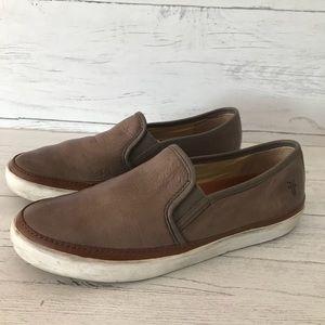Frye Gavin Slip On Leather Shoes